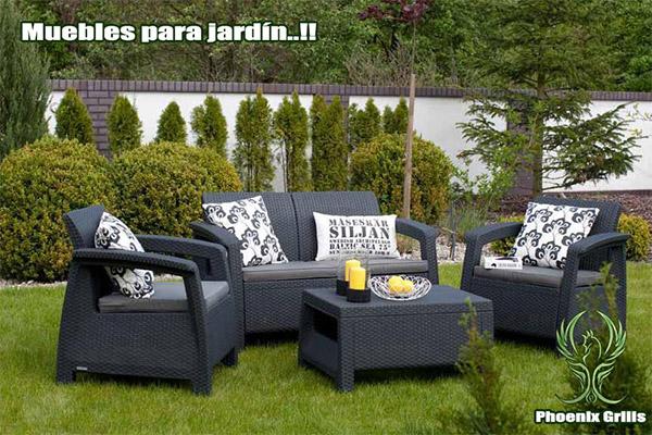 Muebles para jardn muebles de madera teca jatoba o for Muebles de jardin malaga